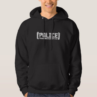 Proud Brother-in-law - POLICE Tattered Hoodie