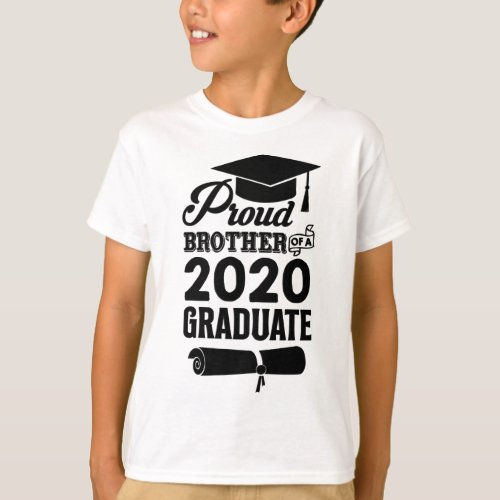 Proud Brother Of A 2020 Graduate T_Shirt