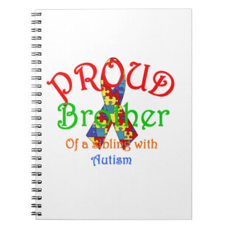Proud Brother of a Austism Sibling Note Book