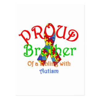 Proud Brother of a Austism Sibling Postcard