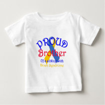 Proud Brother of a Down Syndrome Sibling Baby T-Shirt