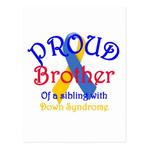 Proud Brother of a Down Syndrome Sibling Postcards