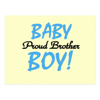 Proud Brother of Baby Boy Tshirts and Gifts Postcard