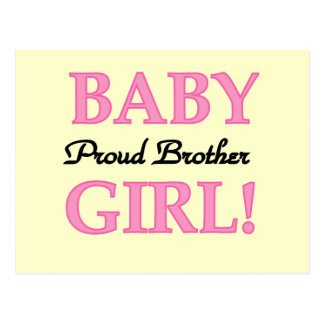 Proud Brother of Baby Girl tshirts and gifts Postcard