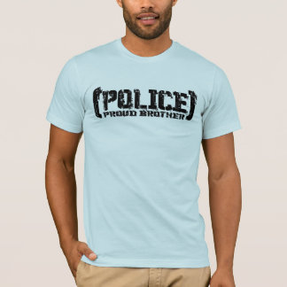 Proud Brother - POLICE Tattered T-Shirt