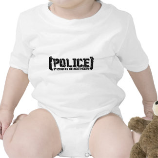 Proud Brother - POLICE Tattered Tee Shirt