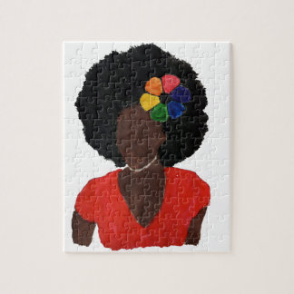 Proud Brown Lady Jigsaw Puzzle