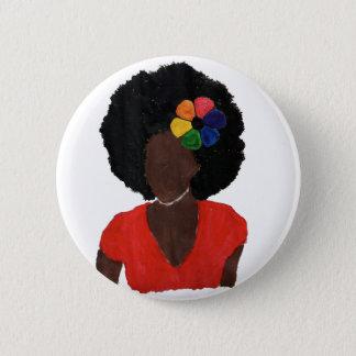 Proud Brown Lady Pinback Button