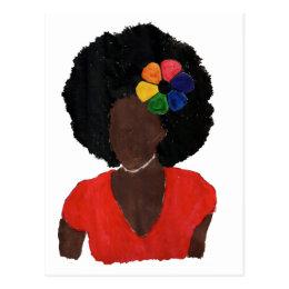 Proud Brown Lady Postcard