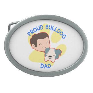 Proud Bulldog Dad Belt Buckles