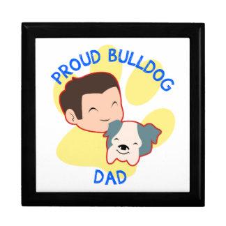 Proud Bulldog Dad Jewelry Box