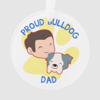 Proud Bulldog Dad Ornament