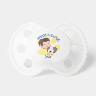 Proud Bulldog Dad Baby Pacifier