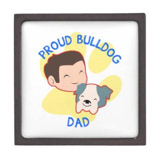 Proud Bulldog Dad Premium Keepsake Box