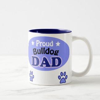 Proud bulldog Dad Two-Tone Coffee Mug