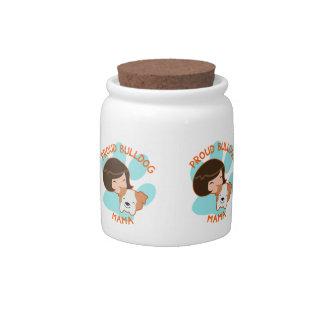 Proud Bulldog Mom Candy Jar