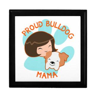 Proud Bulldog Mom Trinket Box
