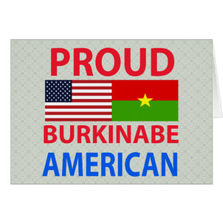 Proud Burkinabe American Greeting Cards