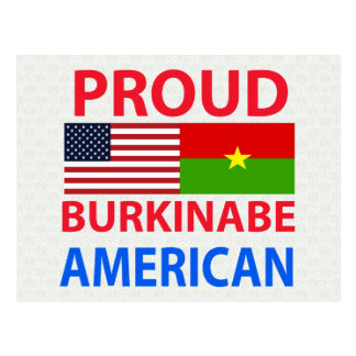 Proud Burkinabe American Post Card
