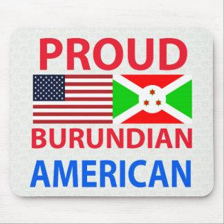 Proud Burundian American Mouse Pads