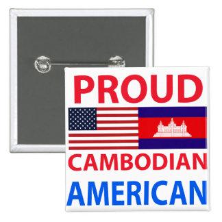 Proud Cambodian American Pinback Button