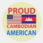 Proud Cambodian American Sticker