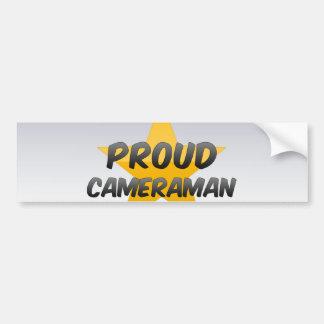 Proud Cameraman Car Bumper Sticker