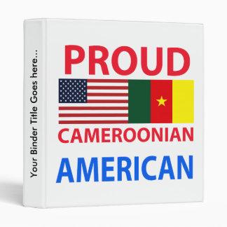 Proud Cameroonian American 3 Ring Binder