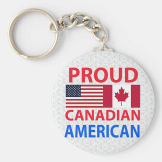 Proud Canadian American Keychain