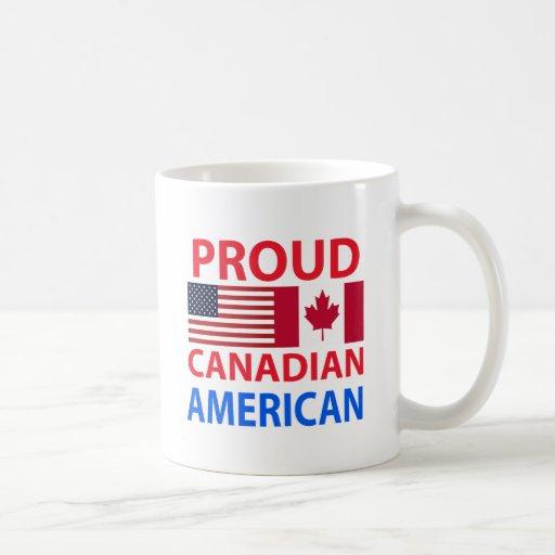 Proud Canadian American Coffee Mug