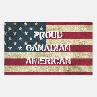 Proud Canadian American Sticker