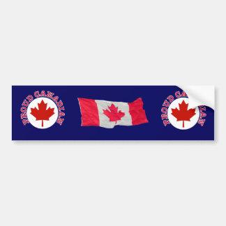 Proud Canadian Bumper Sticker