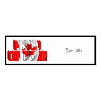 Proud Canadian Business Card Template