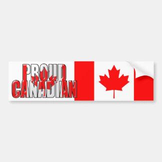 proud Canadian Car Bumper Sticker