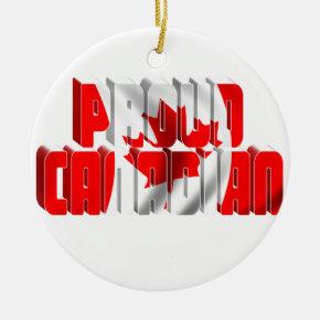 Proud Canadian Ceramic Ornament