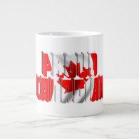 Proud Canadian Extra Large Mug