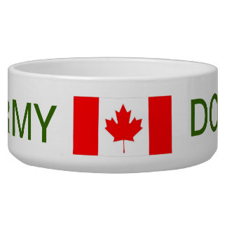 PROUD CANADIAN FORCES DOG BOWL