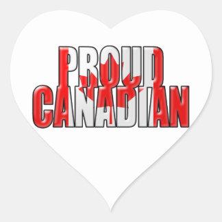 proud Canadian Heart Sticker