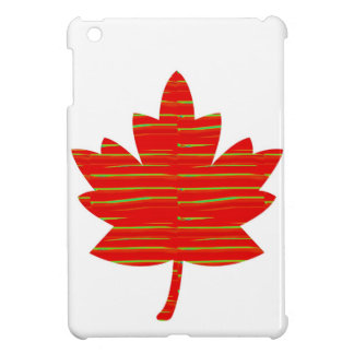 Proud Canadian MAPLE LEAF :ENERGETIC  Red on Silk Case For The iPad Mini