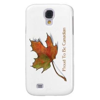 Proud Canadian: Maple Leaf in Color Pencil: Art Samsung S4 Case