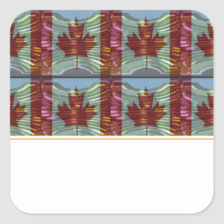 PROUD CANADIAN MAPLE LEAF Pattern Square Sticker