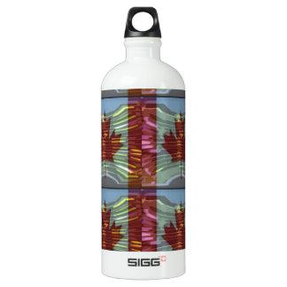 PROUD CANADIAN MAPLE LEAF Pattern Water Bottle