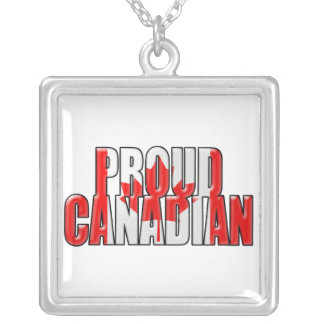 proud Canadian Silver Plated Necklace