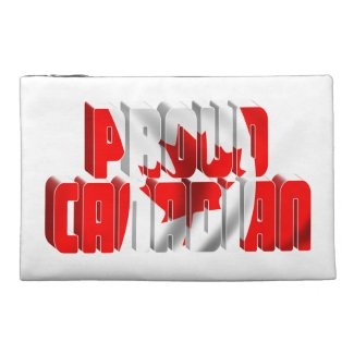 Proud Canadian Travel Accessory Bags