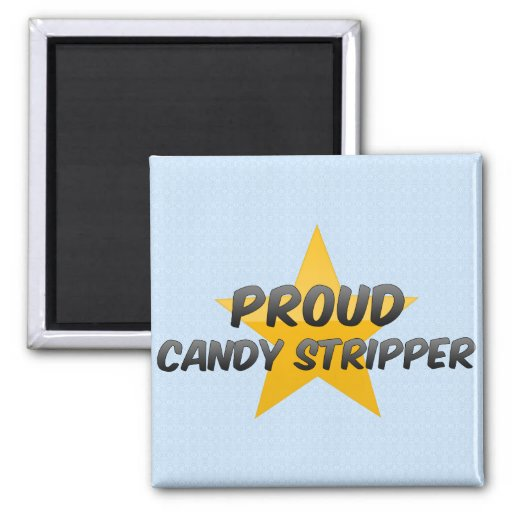 Proud Candy Stripper 2 Inch Square Magnet