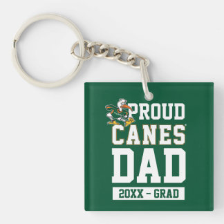 Proud Canes Dad with Class Year Keychain