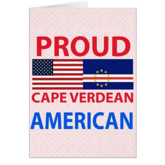 Proud Cape Verdean American Greeting Card