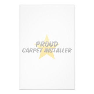 Proud Carpet Installer Custom Stationery
