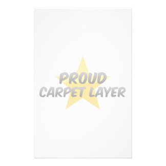 Proud Carpet Layer Custom Stationery