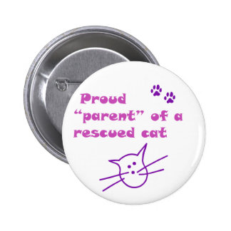 proud cat 2 inch round button